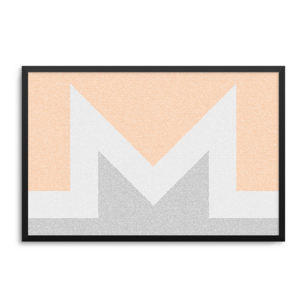 Monero Logo Hashes Poster