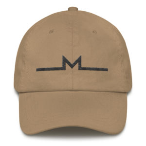 Subtle Monero Logo Hat Khaki