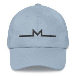 Subtle Monero Logo Hat Light Blue