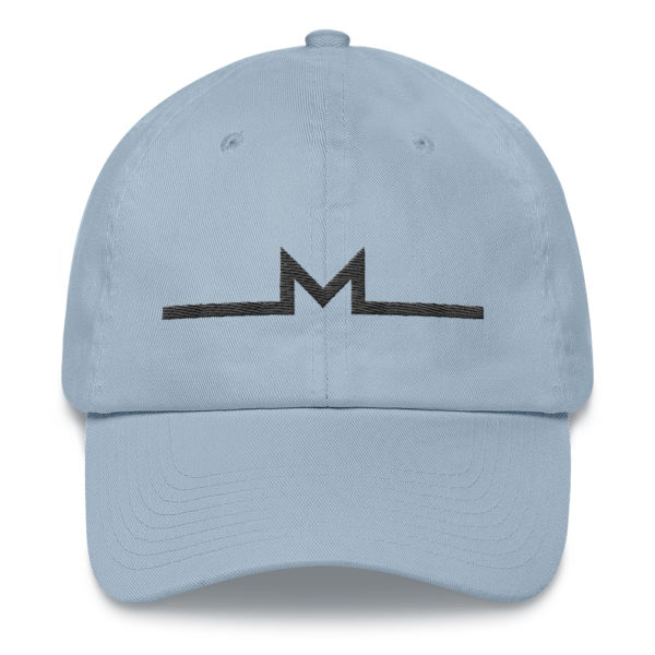 Subtle Monero Logo Hat Light Blue