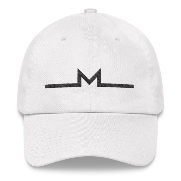 Subtle Monero Logo Hat White