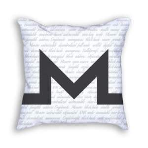 Monero Gray Pillow