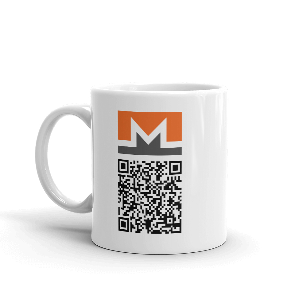 Monero Coffee Cup with Logo and QR-Code