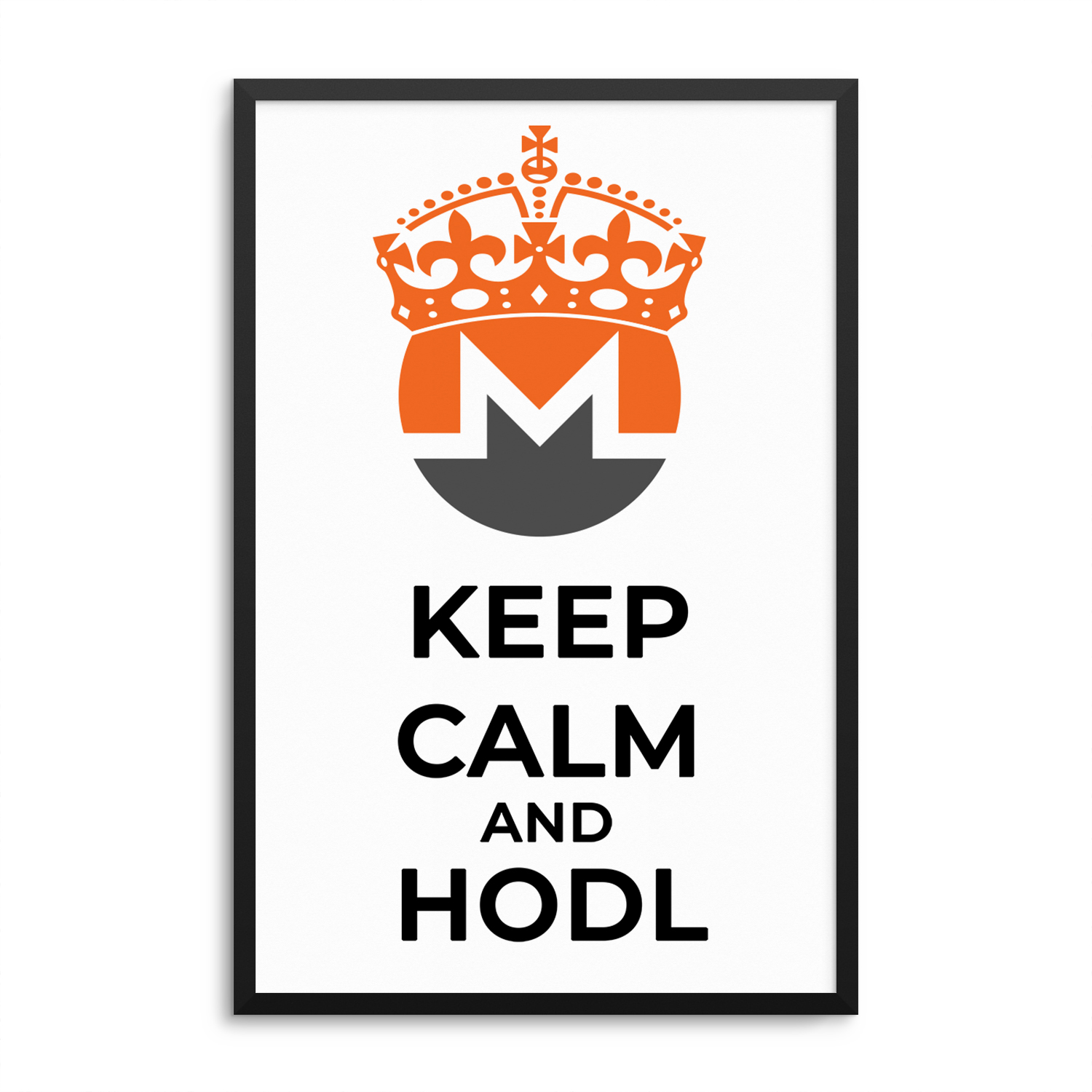 Monero Keep Calm and HODL Poster