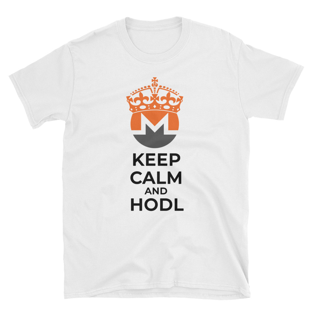 Monero Keep Calm and HODL T-Shirt