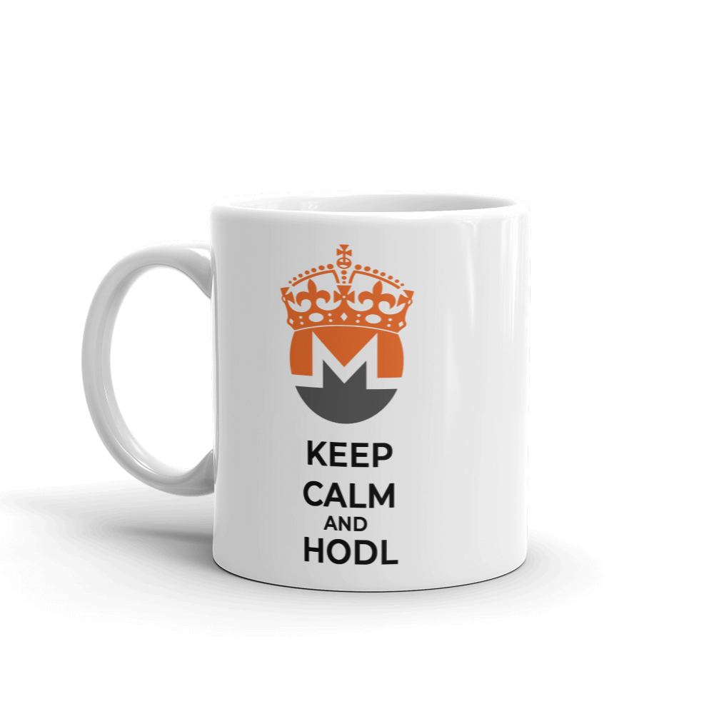 Monero Keep Calm and HODL Coffee Mug