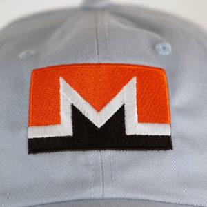 Monero Rectangular Logo Hat Closeup