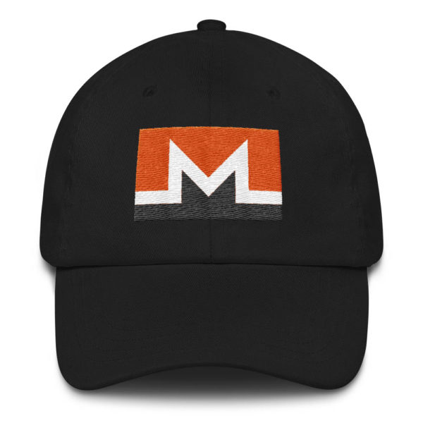 Monero Rectangular Logo Hat Black