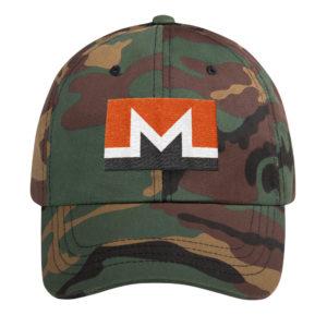 Monero Rectangular Logo Hat Green Camo