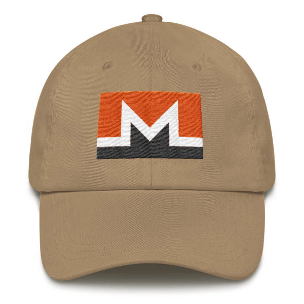 Monero Rectangular Logo Hat Khaki