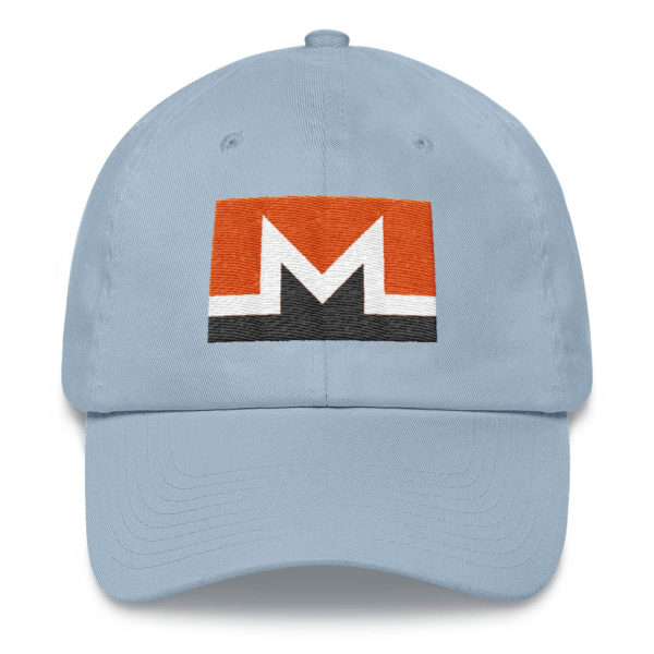 Monero Rectangular Logo Hat Light Blue