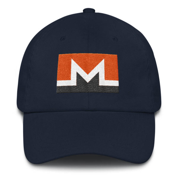 Monero Rectangular Logo Hat Navy Blue