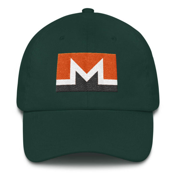 Monero Rectangular Logo Hat Spruce
