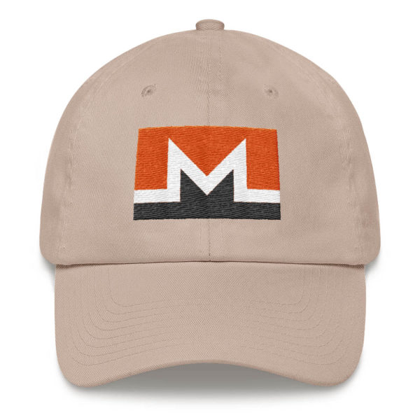 Monero Rectangular Logo Hat Stone