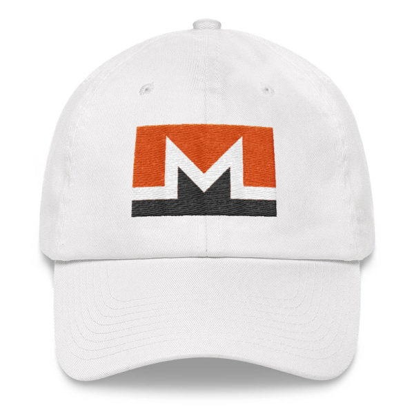Monero Rectangular Logo Hat White