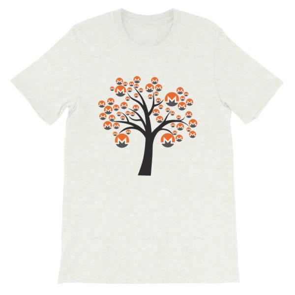 Ash colored Monero tree cotton t-shirt