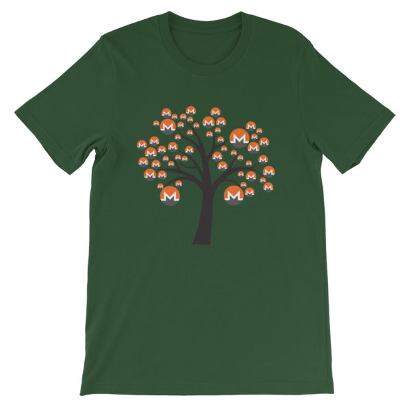Forest colored Monero tree cotton t-shirt
