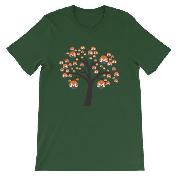 Forest colored Monero tree cotton t-shirt