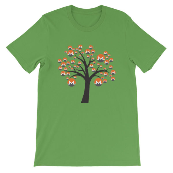 Leaf colored Monero tree cotton t-shirt