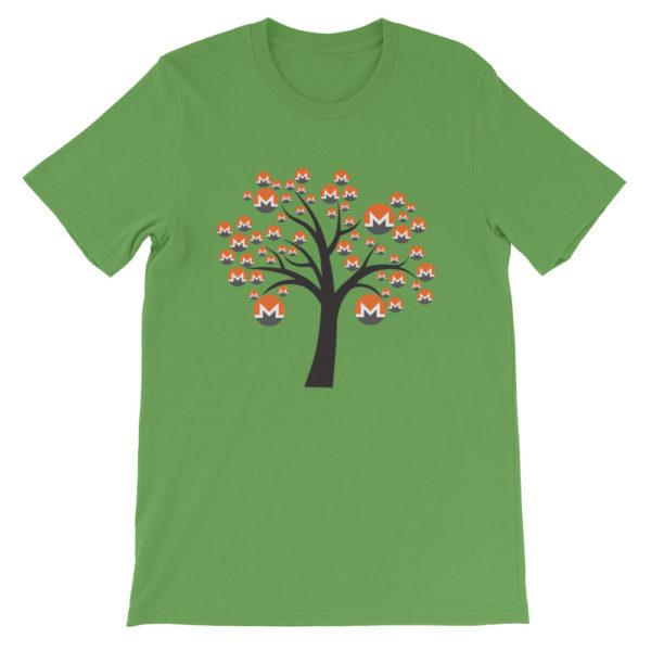 Leaf colored Monero tree cotton t-shirt
