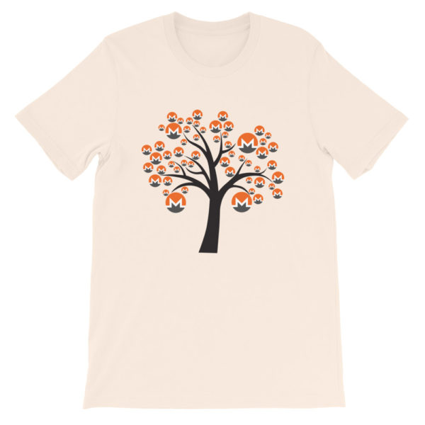 Soft Cream colored Monero tree cotton t-shirt