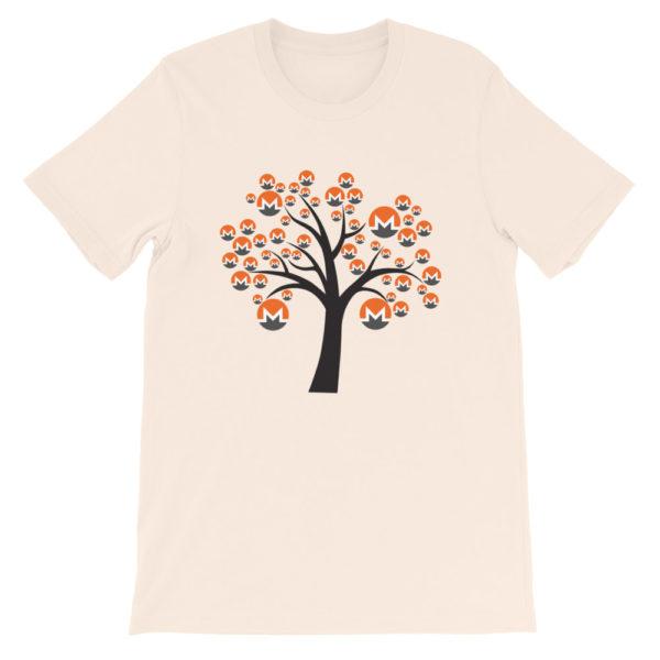 Soft Cream colored Monero tree cotton t-shirt