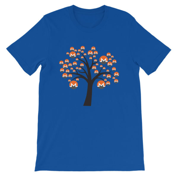 True Royal colored Monero tree cotton t-shirt