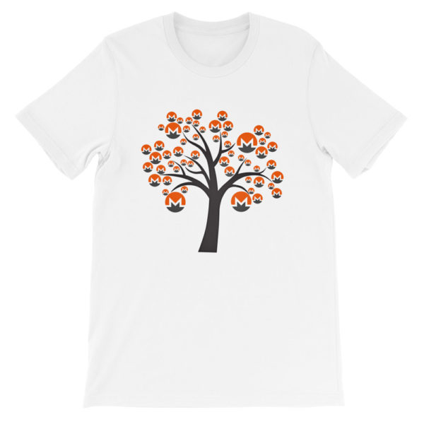 White colored Monero tree cotton t-shirt