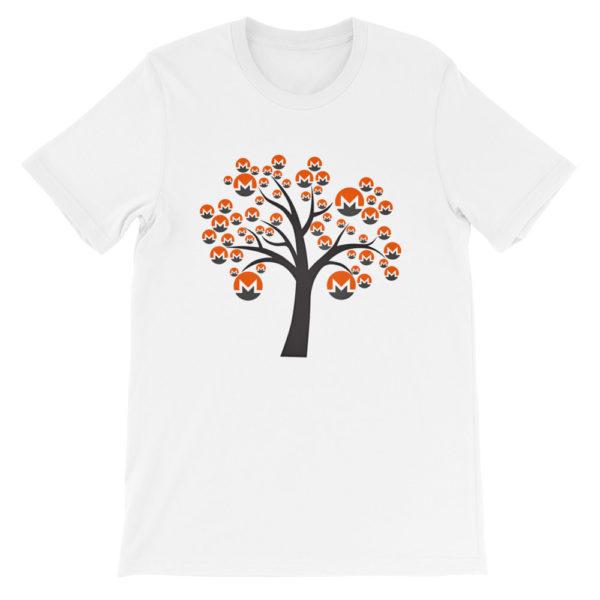 White colored Monero tree cotton t-shirt