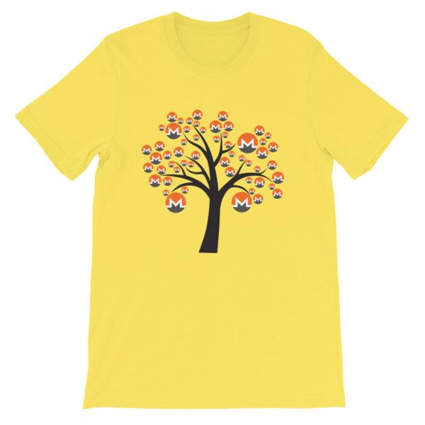 Yellow colored Monero tree cotton t-shirt