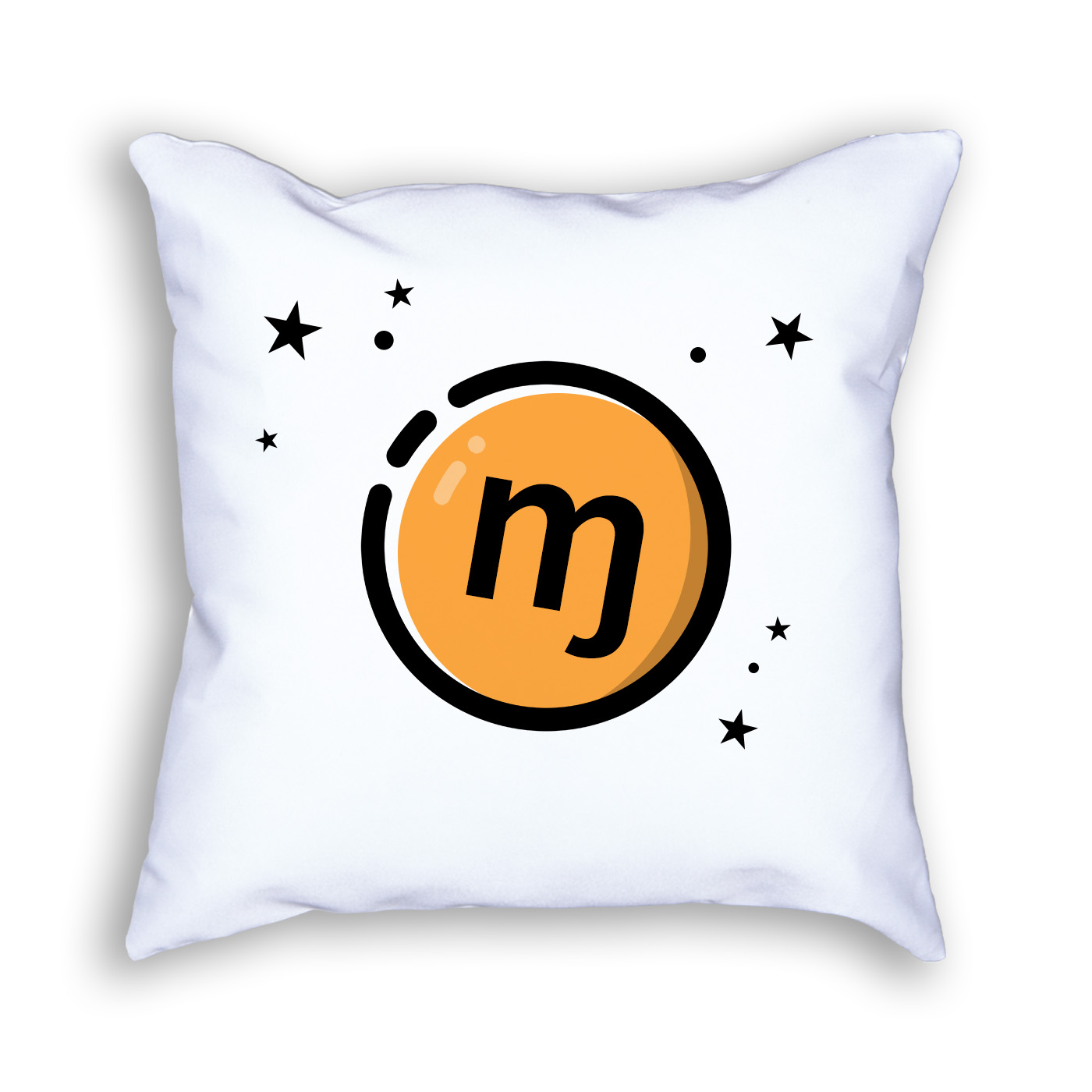 Monero Symbol Decorative Throw Pillow